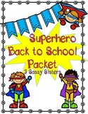 Superhero Back to School Packet