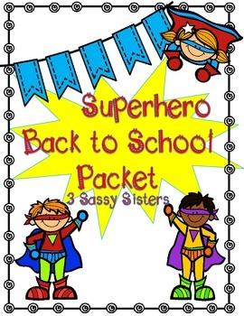 Superhero Back to School Packet
