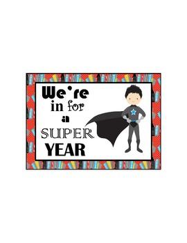 Superhero Back-to-School Postcard