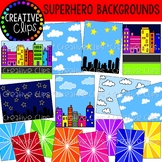 Superhero Backgrounds {Superhero Clipart}