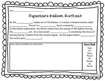 Superhero Balloon Rocket Lab Report