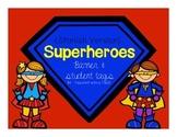 Superhero Banner & Student Tags {Spanish}