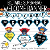 Superhero Theme Banner Kit - Editable! Superhero Theme Cla