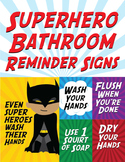 Superhero Bathroom Reminder Signs