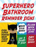 Superhero Bathroom Reminder Signs