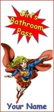 Superhero Bathroom and Office Passes