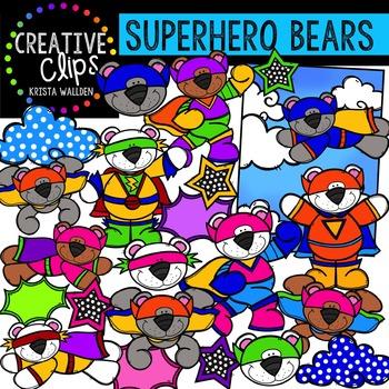 Superhero Bears {Creative Clips Digital Clipart}