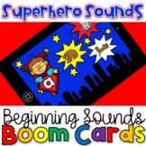 Superhero Beginning (initial) Sounds- Phonics Boom Cards