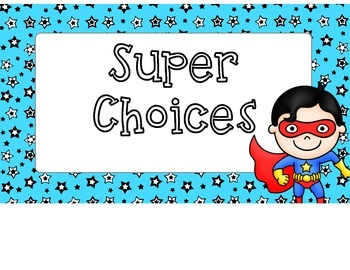 Superhero Behavior Chart Freebie