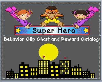 Superhero Behavior Chart and Reward Catalog