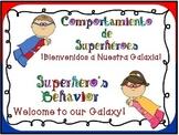 Superhero Behavior Chart for the Dual Language Classroom