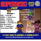 Behavior Chart Free - SUPERHERO Themed