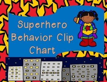 Superhero Theme Behavior Clip Chart