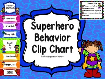 Superhero Behavior Clip Chart