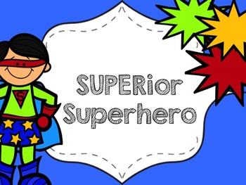 Superhero Behavior Clip Chart