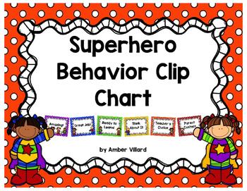 Behavior Clip Chart {Superhero}