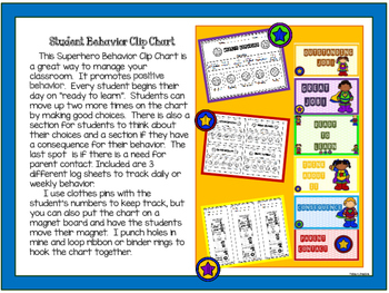 Superhero Behavior Clip Chart 2