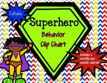 Behavior Clip Chart ~ Superhero theme