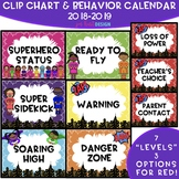 Superhero Clip Chart & Daily Calendar 2018-2019