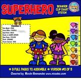 Behavior Clip Charts - Superhero Theme (Version 2)