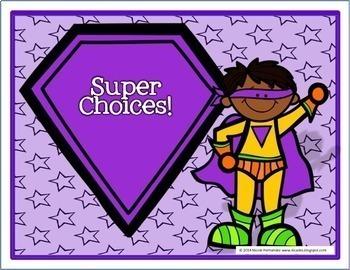 Superhero Behavior Clip Chart System-Role Model (Version 3)