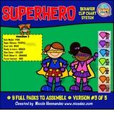 Behavior Clip Charts - Superhero Theme (Version 3)