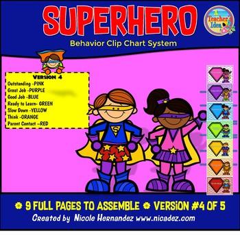 Superhero Behavior Clip Chart System-Role Model (Version 4)