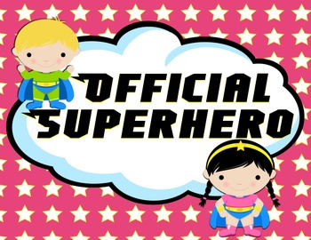 Superhero Behavior Clip Chart - Version 2
