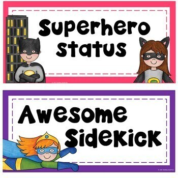 Superhero Behavior Clip Chart and Management System