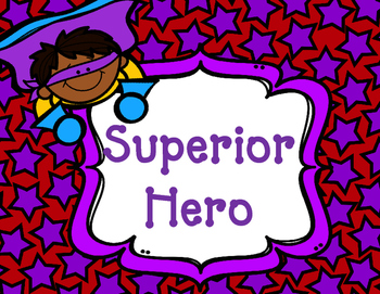 Superhero Behavior Clipchart