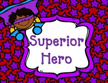 Superhero Behavior Clipchart