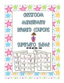 Superhero Behavior Coupons - Positive Reinforcement Rewards and Star Charts