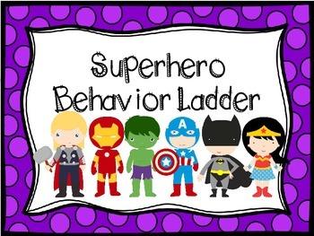 Superhero Behavior Ladder (color background)