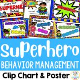 Superhero: Behavior Management Chart & Poster