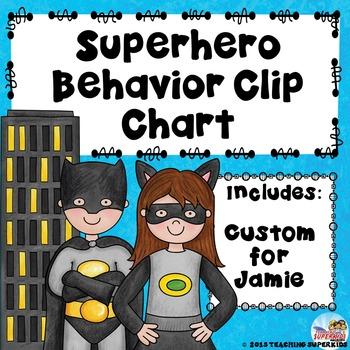 Superhero Behavior Management Custom for Jamie