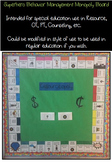 Superhero Behavior Management Monopoly Bulletin Board