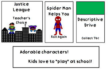 Superhero Behavior Management Monopoly Bulletin Board