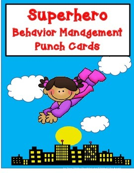 Superhero Behavior Management Punch Cards