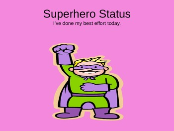 Superhero Behavior Manangement Clip Chart