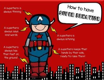 Superhero Behavior Poster
