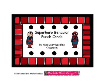 Superhero Behavior Punch Cards