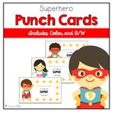 Superhero Behavior Punch Cards