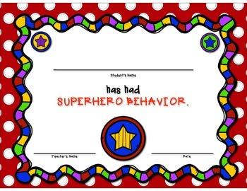 Superhero Behavior Tickets