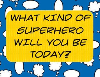 Super hero Behavior Traffic Light - Supplemental Posters