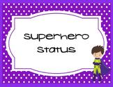 Superhero Behavioral Clip Chart page 1