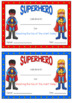 Superhero Behavior Reward Peg Chart EDITABLE