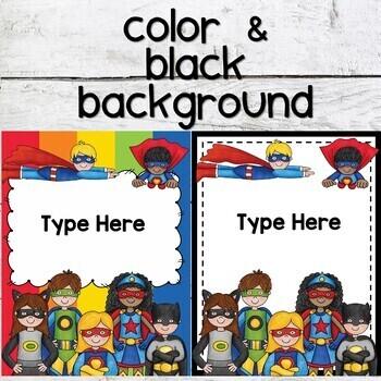 Superhero Themed Binder Covers