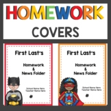 Superhero Themed Binder Covers