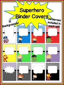 Superhero Binder Covers