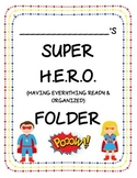 EDITABLE Superhero Binder and Folder Covers